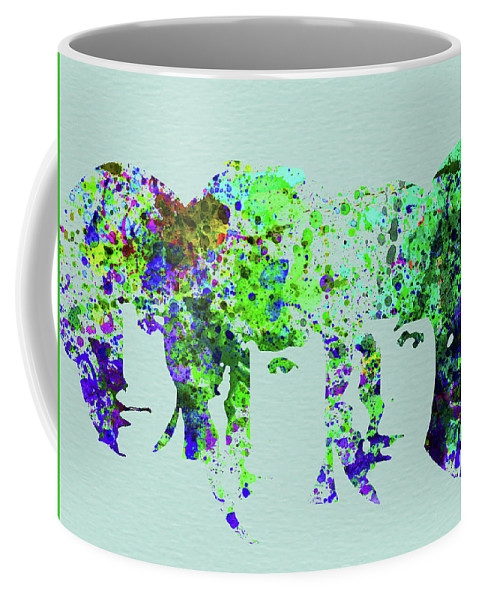 Beatles Coffee Mug featuring the mixed media Legendary Beetles Watercolor II by Naxart Studio