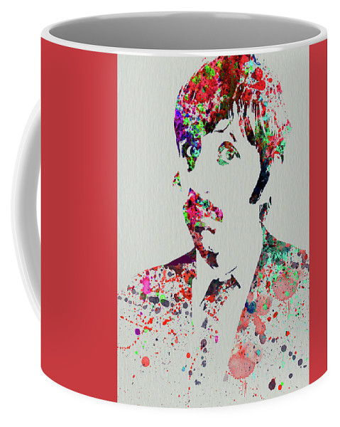 Beatles Coffee Mug featuring the mixed media Legendary George Harrison Watercolor III by Naxart Studio