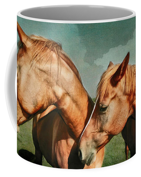 Horses Coffee Mug featuring the photograph Life Partners by Barbara Grether