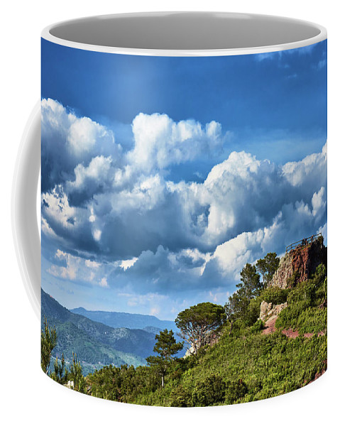 Custom travel mug with picture of landscape in Spain