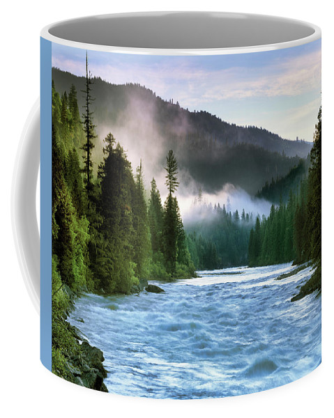 Idaho Scenics Coffee Mug featuring the photograph Lochsa River by Leland D Howard
