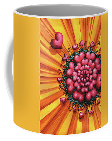 Hearts Coffee Mug featuring the painting Love Blossom by Catherine G McElroy