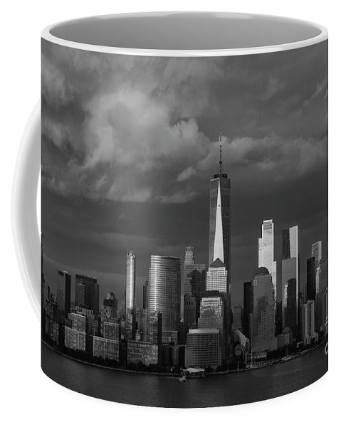 Wall Art Coffee Mug featuring the photograph Lower Manhattan by Devin Crowe