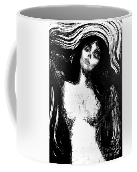 Madonna Coffee Mug featuring the painting Madonna, Lithograph By Edvard Munch Dedicated To Dr Bucher by Edvard Munch