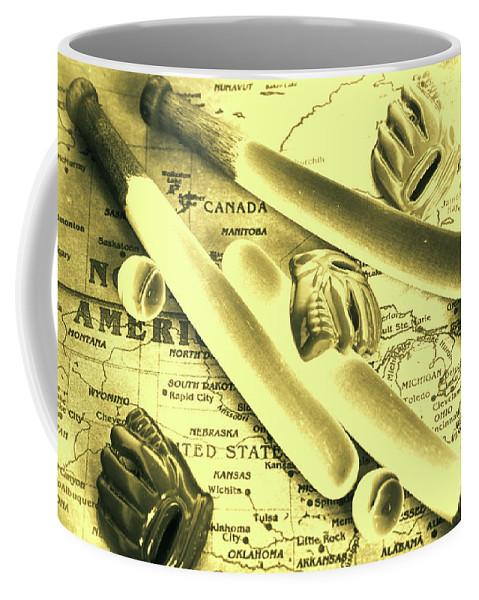 Baseball Coffee Mug featuring the photograph Major League America by Jorgo Photography - Wall Art Gallery