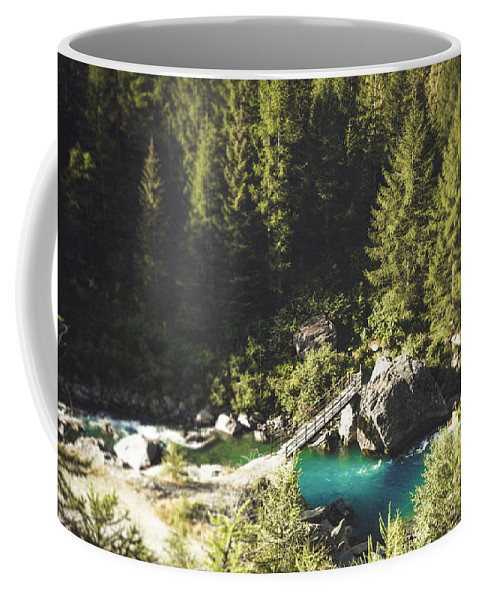 River Coffee Mug featuring the photograph Mallero Mountain River - Lombardia - Italy by Dirk Wuestenhagen
