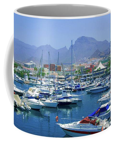 Marina Coffee Mug featuring the photograph Marina Of Costa Adeje by Sun Travels
