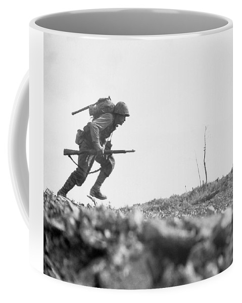 Marine Coffee Mug featuring the photograph Marine Dash On Okinawa by War Is Hell Store