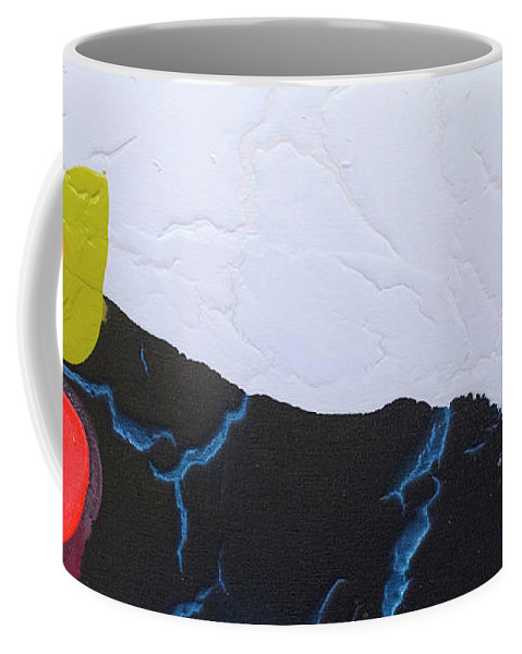 Abstract Coffee Mug featuring the painting Maya 01 by Claire Desjardins