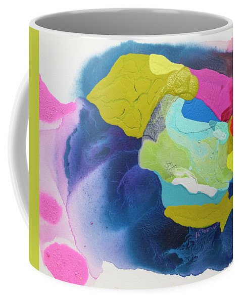 Abstract Coffee Mug featuring the painting Maya 02 by Claire Desjardins