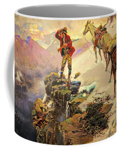 Charles Russell Coffee Mug featuring the digital art Meats Not Meat Til Its In The Pan by Charles Russell