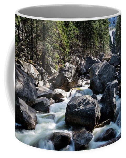 Merced River And Vernal Fall Coffee Mug featuring the photograph Merced River And Vernal Fall, Yosemite National Park by Yefim Bam