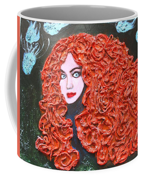 Coffee Mug featuring the mixed media Merida by Andrea Laurincova