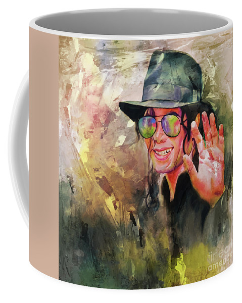 Michael Jackson Coffee Mug featuring the painting Michael Jackson art 56y by Gull G
