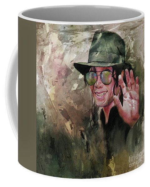 Michael Jackson Coffee Mug featuring the painting Michael Jackson Painting by Gull G