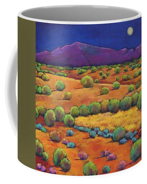Contemporary Southwest Coffee Mug featuring the painting Midnight Sagebrush by Johnathan Harris