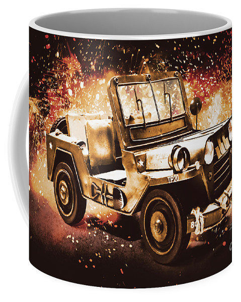 Military Coffee Mug featuring the photograph Military Machine by Jorgo Photography - Wall Art Gallery