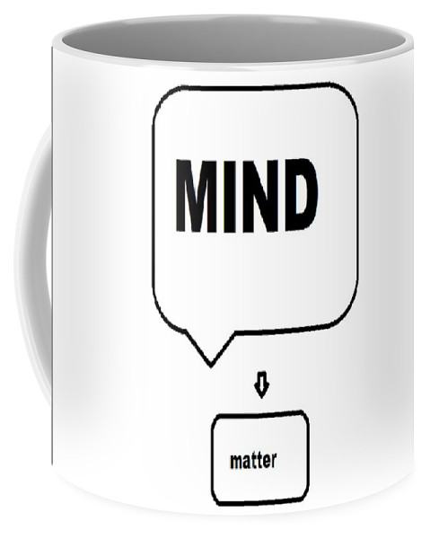 Print Coffee Mug featuring the digital art Mind over matter by Andrew Johnson