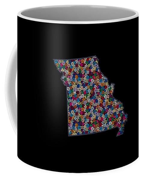 Jefferson City Coffee Mug featuring the painting Missouri Map - 2 by Nikita