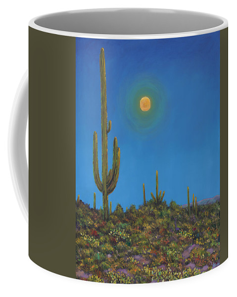 Arizona Coffee Mug featuring the painting Moonlight Serenade by Johnathan Harris