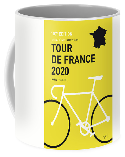 2020 Coffee Mug featuring the digital art My Tour De France Minimal Poster 2020 by Chungkong Art