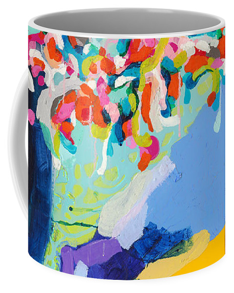 Abstract Coffee Mug featuring the painting My Vanity by Claire Desjardins