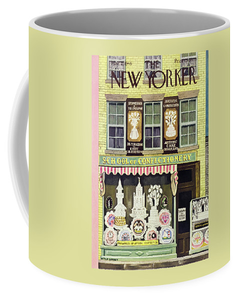 Illustration Coffee Mug featuring the painting New Yorker March 2, 1946 by Witold Gordon