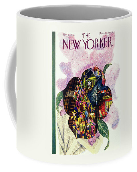 Illustration Coffee Mug featuring the painting New Yorker May 18 1946 by Ilonka Karasz