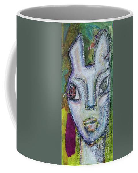 Outsider Art Coffee Mug featuring the mixed media Nightnurse by Mimulux patricia No