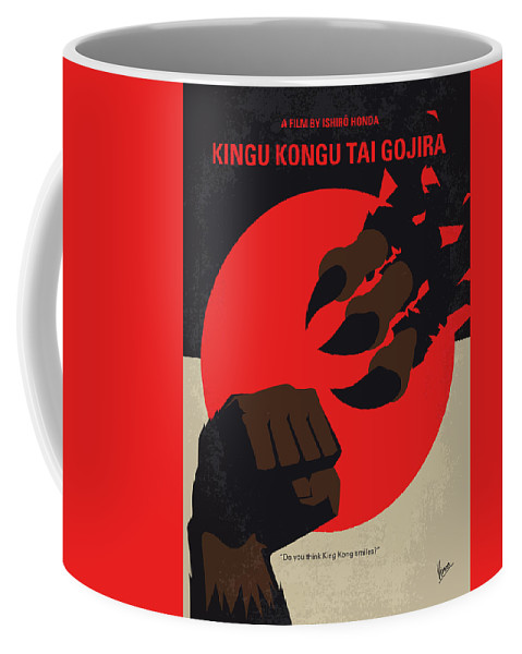 King Coffee Mug featuring the digital art No1030 My King Kong Vs Godzilla Minimal Movie Poster by Chungkong Art