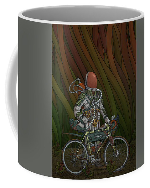 Procreate Coffee Mug featuring the digital art North Branch, 140psi by Evan Miller