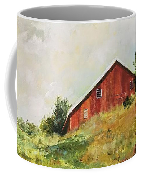Farm Coffee Mug featuring the painting Norwegian Memories by Michelle Roise
