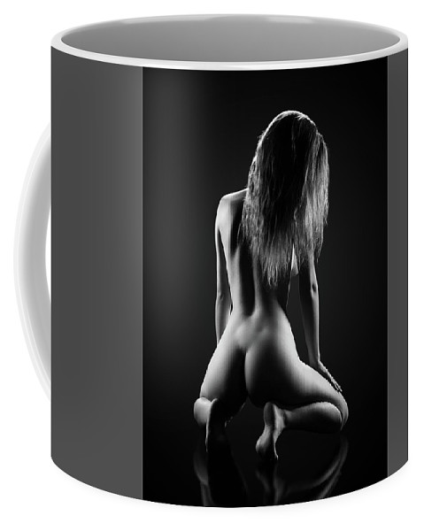 Woman Coffee Mug featuring the photograph Nude woman bodyscape 32 by Johan Swanepoel