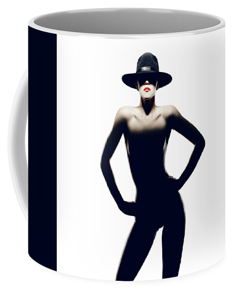 Woman Coffee Mug featuring the photograph Nude Woman With Hat by Johan Swanepoel