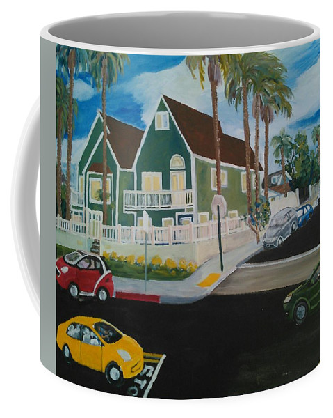 Painting Coffee Mug featuring the painting OB House by Andrew Johnson