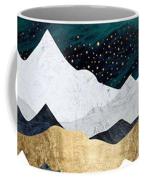 Ocean Coffee Mug featuring the digital art Ocean Stars by Spacefrog Designs