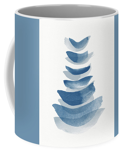 Abstract Coffee Mug featuring the mixed media Ocean Zen 2 - Art By Linda Woods by Linda Woods