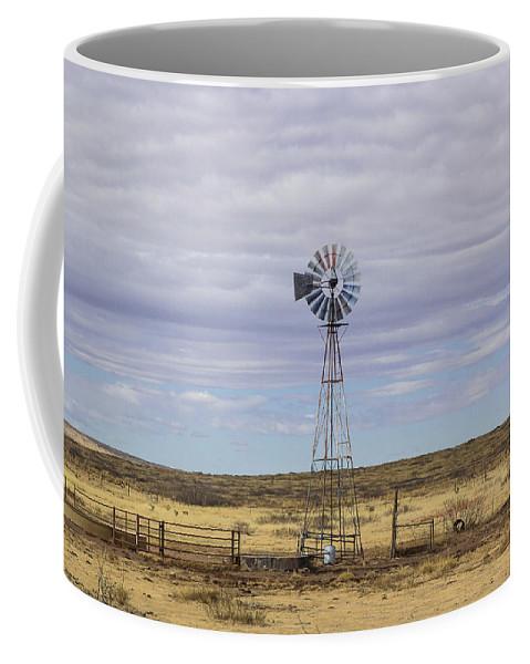 Oklahoma Coffee Mug featuring the photograph Oklahoma Windmill by Jennifer Thomas