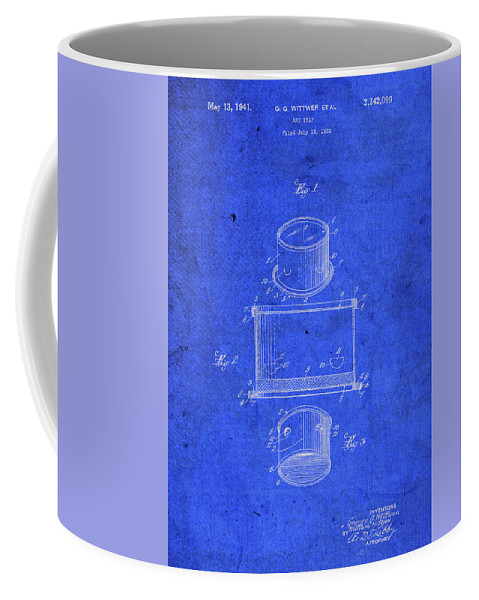 Old Coffee Mug featuring the mixed media Old Ant Trap Vintage Patent Blueprint by Design Turnpike