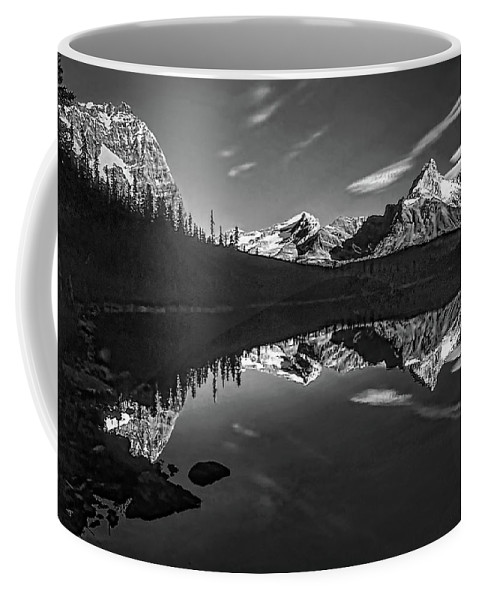 Mountains Coffee Mug featuring the photograph On The Trail Bw by Steve Harrington