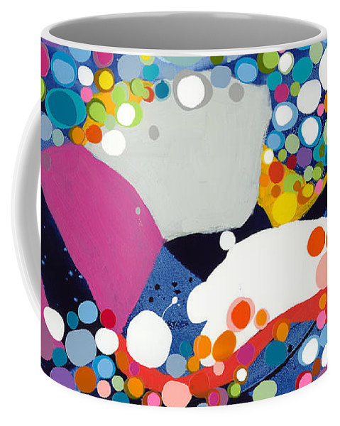 Abstract Coffee Mug featuring the painting On The Up And Up by Claire Desjardins
