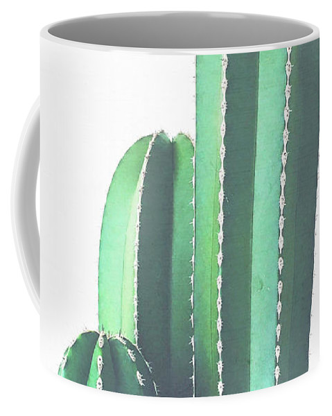 Cactus Coffee Mug featuring the photograph Organ Pipe Cactus by Cassia Beck