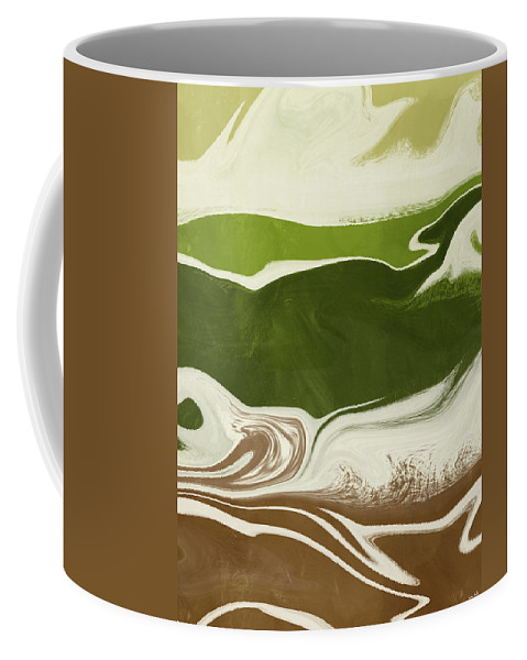 Abstract Coffee Mug featuring the mixed media Organic Wave 2- Art By Linda Woods by Linda Woods