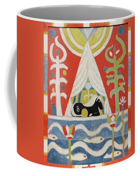 Marsden Hartley Coffee Mug featuring the painting Painting No 4, A Black Horse, 1915 by Marsden Hartley