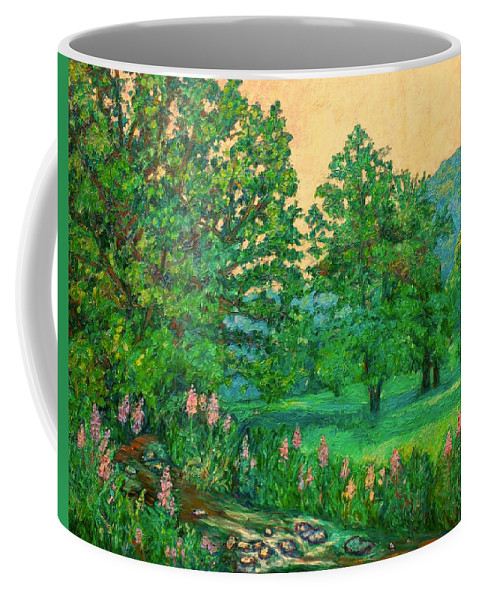 Landscape Coffee Mug featuring the painting Park Road in Radford by Kendall Kessler
