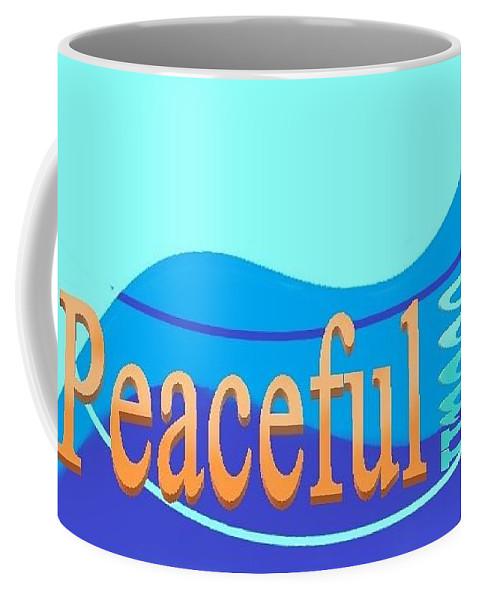Coffee Mug featuring the digital art Peaceful Ocean by Andrew Johnson