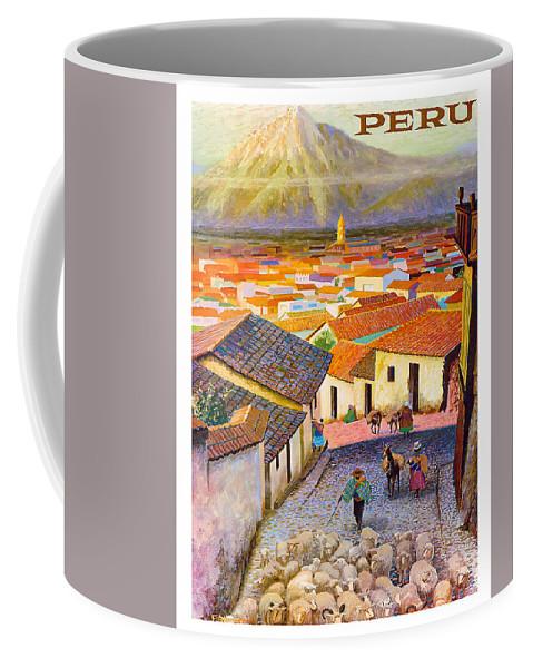 Peru Coffee Mug featuring the digital art Peru by Long Shot