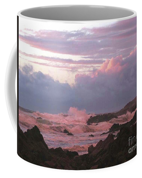 Pink Coffee Mug featuring the photograph Pink Waves by Paul Jimerson