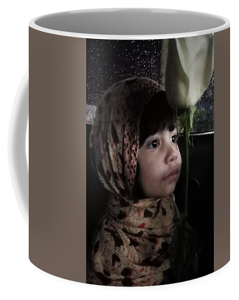 My Beautiful Grand Daughter Coffee Mug featuring the pyrography Portrait by Bruno Landis