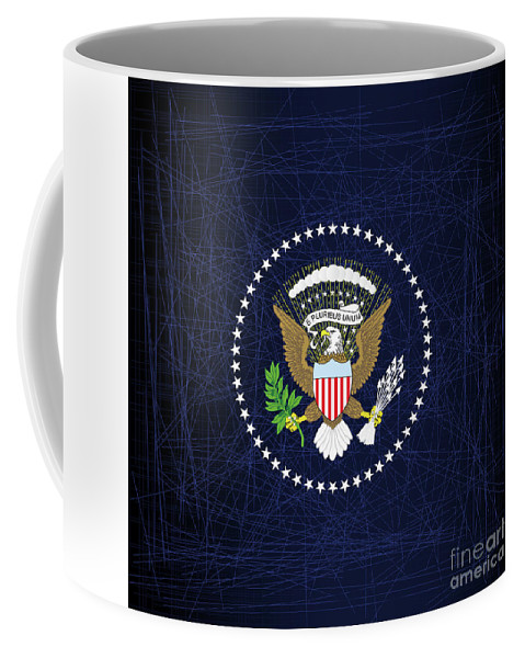Presidential Coffee Mug featuring the digital art President Seal Eagle by Bigalbaloo Stock